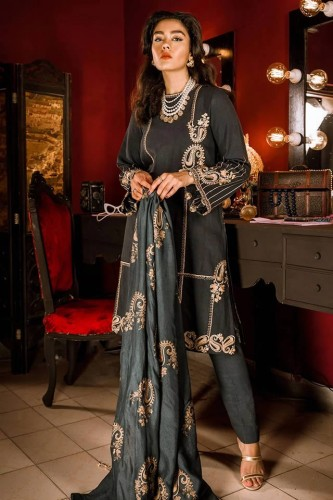 Beautiful Khaddar Cross Stitch Dresses 2020