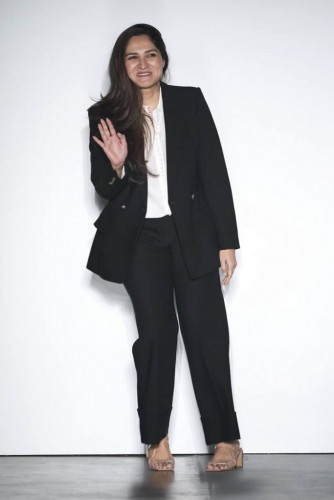Fashion Designer Sania Maskatiya at NY Fashion Show